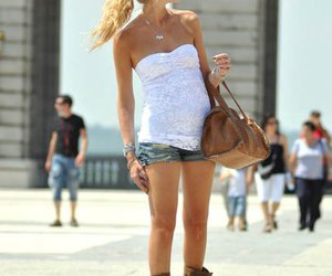 boots, bag, and blonde image