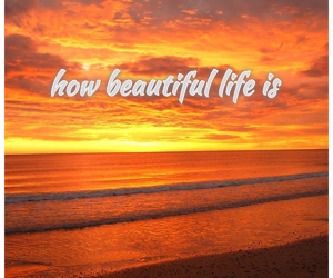 beutiful, life, and text image
