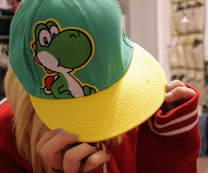 cap, hat, and yoshi image