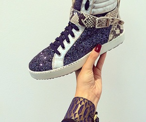 glam, glitter, and sneakers image