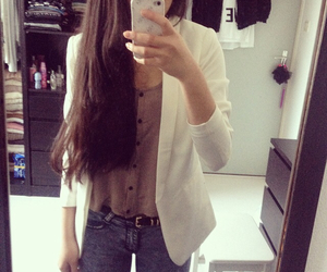 blazer, fashion, and outfit image