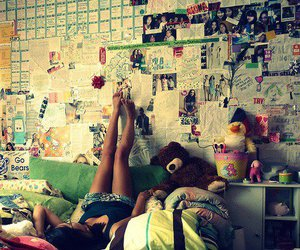 girl, room, and bedroom image