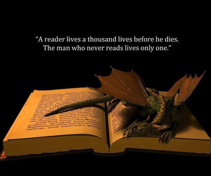 book, books, and dragons image