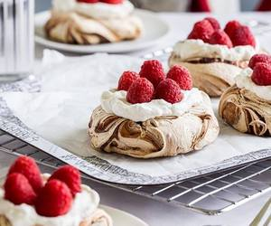 food, raspberry, and dessert image