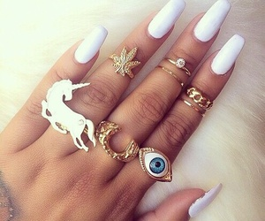 accessories, hand, and rings image