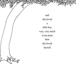 love, The Giving Tree, and text image
