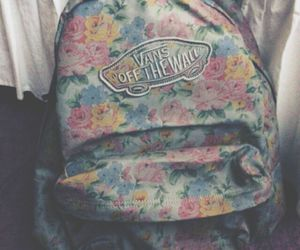 vans, flowers, and bag image