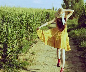 dress, nature, and fashion image