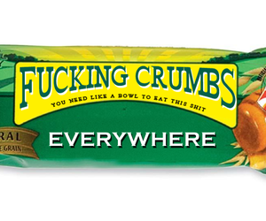 funny, crumbs, and food image