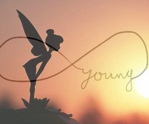 young, forever, and tinkerbell image