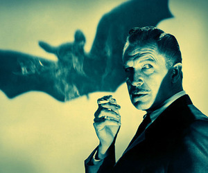 vincent price, bat, and creepy image