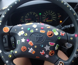 grunge, car, and sticker image