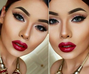 makeup, make up, and beauty image
