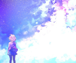 anime, sky, and kyoukai no kanata image