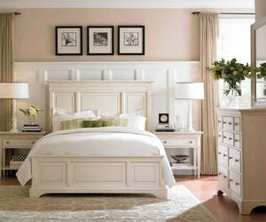 bedroom, ivory, and decor image