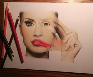 drawing, art, and makeup image