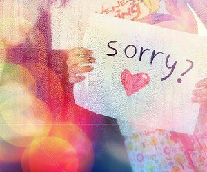 sorry and heart image