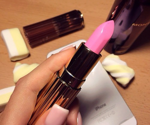 pink, lipstick, and nails image