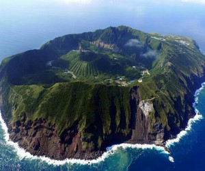 japan, paradise, and volcano image