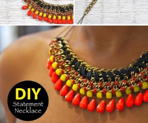 diy, necklace, and do it yourself image