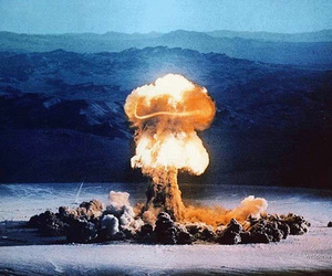 atomic bomb, nuclear, and bomb image