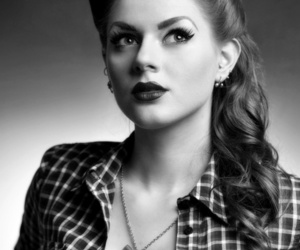 Pin Up, hair, and vintage image
