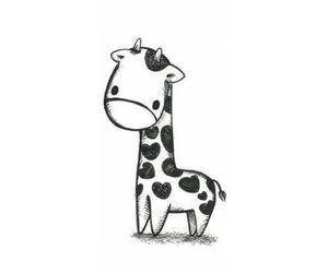 giraffe, small, and cute image