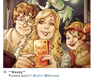 disney, peter pan, and wendy image