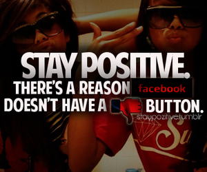 facebook and stay positive image