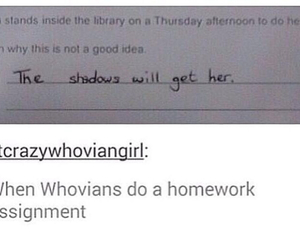 doctor who, homework, and donna noble image