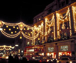 christmas, london, and lights image