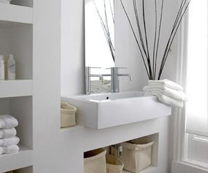 white, bathroom, and interior image