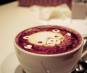 bear, cute, and coffee image