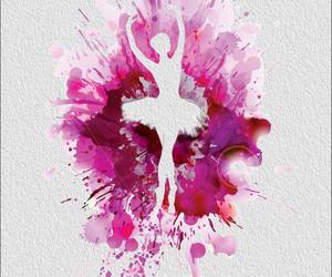 pink, art, and ballet image