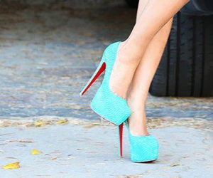 blue, shoes, and perf image