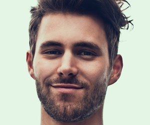 beard, handsome, and smile image