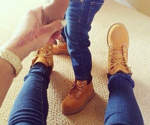 shoes, timberland, and baby image