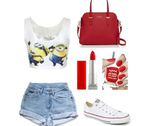 converse, red, and croptop image