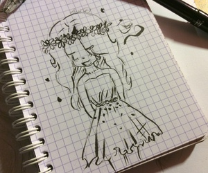 drawing, girl, and cute image
