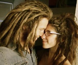 dreadlocks, couple, and dreads image