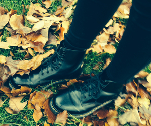 black, boots, and dark image