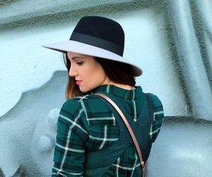 fashion, green, and hat image