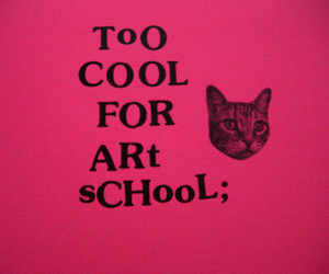 cat, art, and art school image