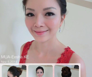 bride makeup, wedding hairstyling, and bride hairstyling image
