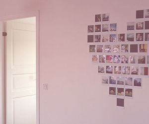 wall, heart, and photos image