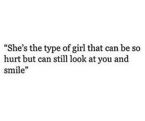 girl, hurt, and smile image