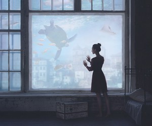 fairy tale, girl, and ocean image