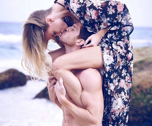 beach, boyfriend, and couple image