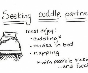 cuddle, bed, and partner image
