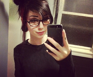 alternative, black hair, and dark image